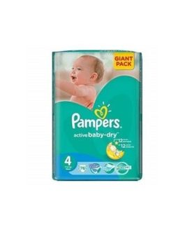 Pampers Active Baby Nr. 4 x 76 buc