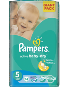 Pampers Active Baby Nr. 5 x 64 buc